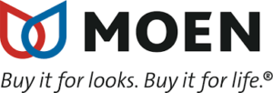 Moen's complete line of products, including kitchen and bathroom fixtures and faucets